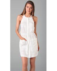 3.1 Phillip Lim - White Gathered Waist Shirtdress - Lyst