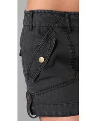 Free People | Black Benjis Cargo Shorts | Lyst