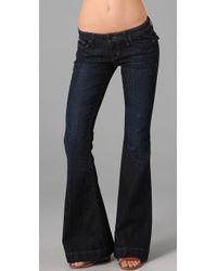 Hudson Jeans | Blue Flap Pocket Flare Jeans | Lyst