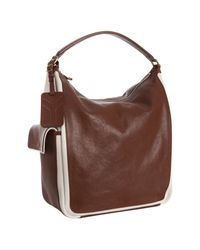 Saint Laurent - Brown Multy Large Leather Hobo Bag - Lyst