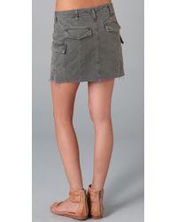 J Brand | Green Cargo Miniskirt | Lyst