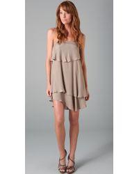 Obakki | Natural Cascade Dress | Lyst