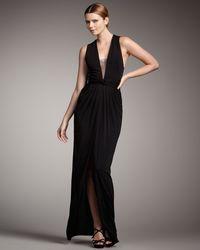 Robert Rodriguez - Black Rosie V-neck Gown - Lyst