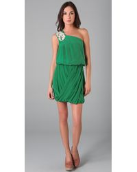 Tibi | Green Farrah One Shoulder Dress | Lyst