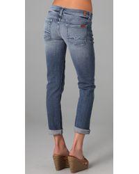 7 For All Mankind - Blue Josefina Skinny Boyfriend Jeans - Lyst