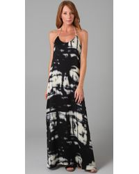 Max Azria | Black Broken Reflections Long Dress | Lyst
