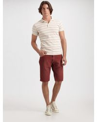 Gant Rugger | Metallic Striped Polo for Men | Lyst