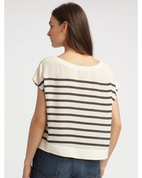 Joie | Brown Placed Stripe Shasta Tip | Lyst