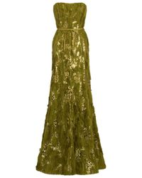 Eastland | Green Frayed Sequin Gown | Lyst