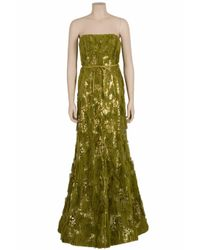 Eastland - Green Frayed Sequin Gown - Lyst