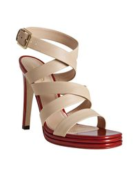 Saint Laurent | Natural Montaig 105 Sandals | Lyst
