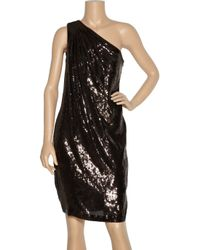 Badgley Mischka - Black Stretch-knit Dress - Lyst
