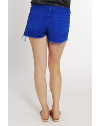 J Brand | Blue Cut-off Short in Bright Royal | Lyst