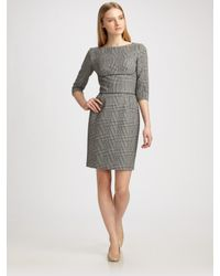 Stella McCartney | Gray Ada Houndstooth Dress | Lyst