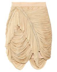 Willow - Natural Silk-tulle Drape Skirt - Lyst