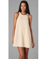 Tibi - Natural Lo Bello Crochet Dress - Lyst