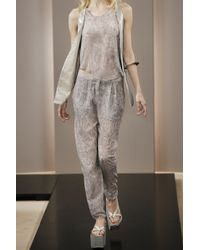 Acne | Multicolor Contact Snake-print Chiffon Pants | Lyst