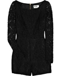 Alice By Temperley | Black Lace Playsuit | Lyst