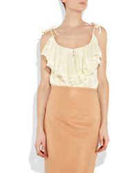 Anna Sui | Natural Ruffled Lace Camisole | Lyst