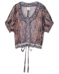 Anna Sui | Lace Panel Printed Top - Multicolor | Lyst