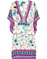 Antik Batik | White Kasa Floral-print Silk Kaftan | Lyst