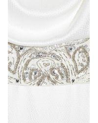 Antik Batik | White Clea Embellished Hammered Silk-satin Gown | Lyst