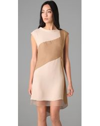 BCBGMAXAZRIA - Natural Runway Kasia Silky Dress - Lyst