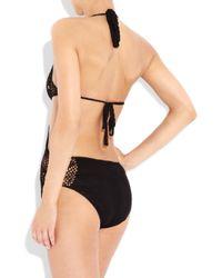 Catherine Malandrino | Black Cutout Crocheted Swimsuit | Lyst