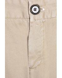 Current/Elliott | Natural The Sharp Trouser Cotton-twill Pants | Lyst