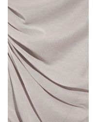 Donna Karan | Gray Silk-georgette and Jersey Camisole | Lyst