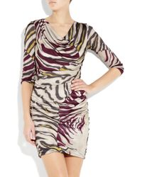 Emilio Pucci | Multicolor Satin-jersey Zebra-print Dress | Lyst