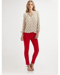 Equipment | Natural Annabelle Anchors Away Blouse | Lyst