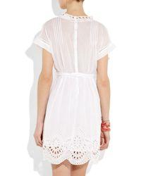 Étoile Isabel Marant - White Anita Embroidered Cutout Cotton Dress - Lyst