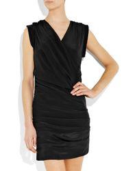IRO - Black Clemence Washed-silk Mini Dress - Lyst