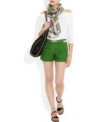 James Perse   White Cotton-Jersey Hooded Sweatshirt   Lyst