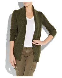 J.Crew - Green Robin Cashmere and Mohair Cardigan - Lyst