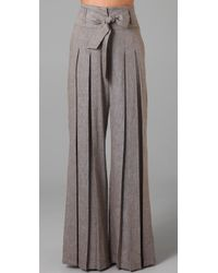 L.A.M.B. | Gray Cross Dye Wide Leg Pants | Lyst