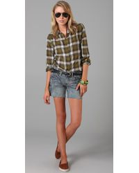 Madewell - Green Checked Pemberly Shirt - Lyst