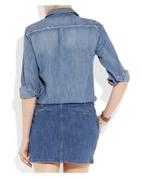 Maje | Blue Enquete Two-tone Denim Shirt Dress | Lyst