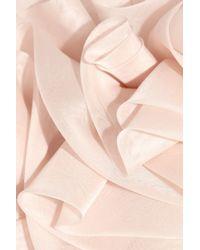 Marchesa | Pink Ruffled Silk-organza Strapless Gown | Lyst
