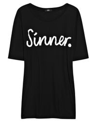 Markus Lupfer | Black Sinner Cotton T-shirt | Lyst