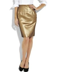 Boutique Moschino - Metallic Lamé Pencil Skirt - Lyst