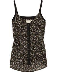Rag & Bone | Black Cale Floral-print Cotton Camisole | Lyst
