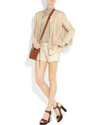 Ralph Lauren Collection - Natural Fringed Leather Carson Jacket - Lyst