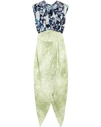 Rodarte | White Ming-print Silk-blend Organza and Crepe Dress | Lyst