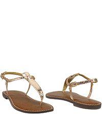 Sam Edelman - Pink Gigi - Rose Gold Thong Flat Sandal - Lyst