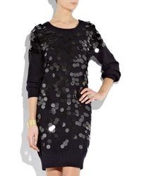 Sonia by Sonia Rykiel | Black Paillette-embellished Sweater Dress | Lyst