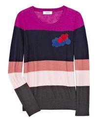 Sonia by Sonia Rykiel - Multicolor Striped Wool Intarsia Sweater - Lyst
