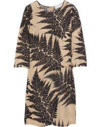 Stella McCartney | Natural Penelope Fern-print Silk-chiffon Dress | Lyst