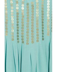 Tibi - Metallic Sequined Washed-silk Maxi Dress - Lyst
